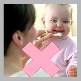 como no cepillar bebé